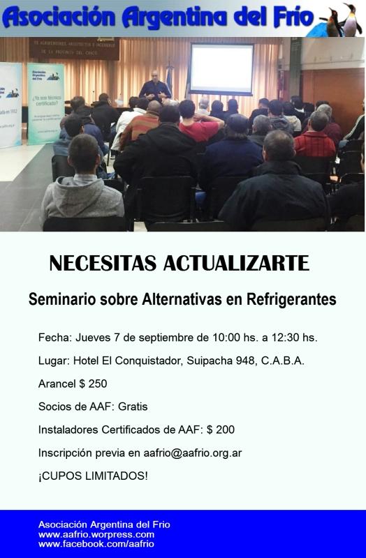 Flyer Seminario Refrigerantes.